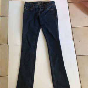 DL 1961 Kate studded pocket slim cut jeans